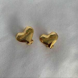 MOSCHINO Gold Heart Earrings